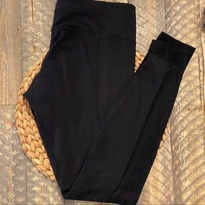 Lululemon Special Edition Black Lace Panel Legging